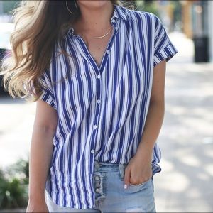 Madewell Striped Button down